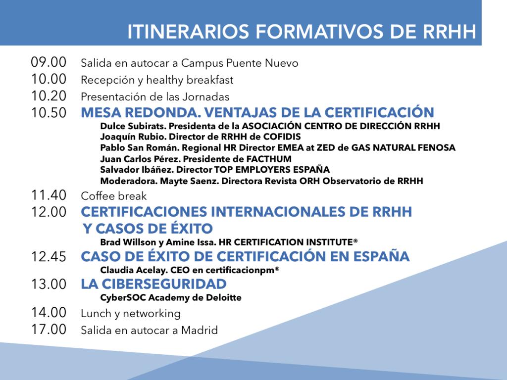 Programa certificaciones HRCI